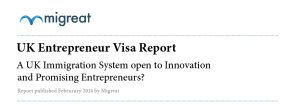 Migreat's Report on the UK Entrepreneur Visa