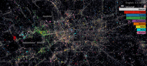 London Tweets per language map