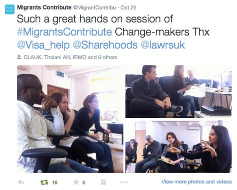 Migrant contribute campaign twitter