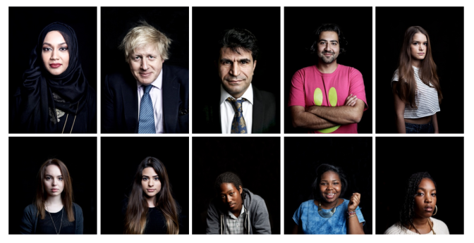 FACE IT 2015 – Photographs of people that make up the immigration debate in the UK