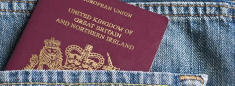 British Passport in the pocket