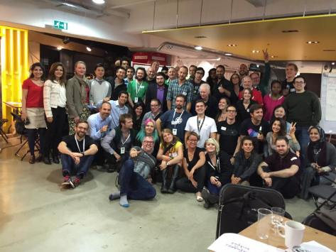 Techfugees hackathon group picture